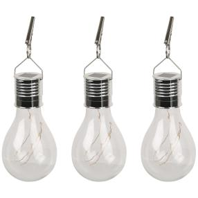 3er Set Solar-Glühbirnen