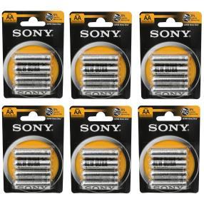 24x Sony Batterien AA