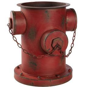 Blumentopf Hydrant Rot/Metall