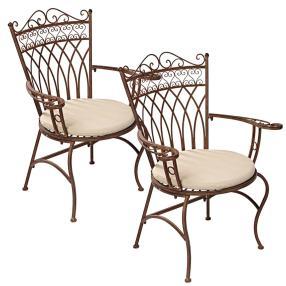Gartenstuhl-Set, 2-teilig, Versailles