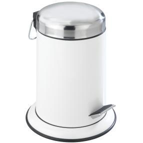 WENKO Kosmetik Treteimer Retoro Weiß, 3 Liter