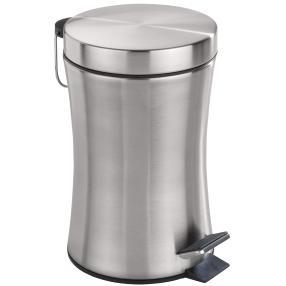 WENKO Kosmetik-Treteimer Pieno, 3 Liter, Edelstahl