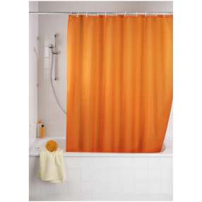 WENKO Anti-Schimmel Duschvorhang Uni Orange