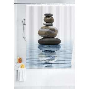 WENKO Duschvorhang Meditation, 180 x 200 cm