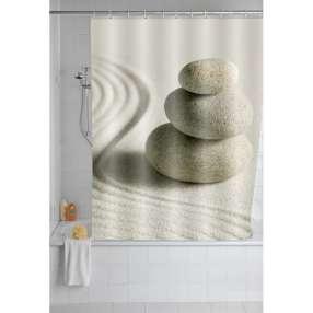 WENKO Duschvorhang Sand & Stone, 180 x 200 cm