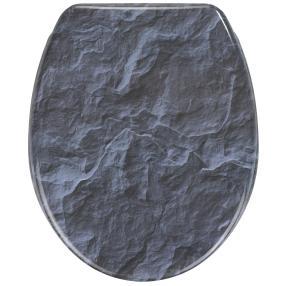 WENKO WC-Sitz Slate Rock, mit Absenkautomatik
