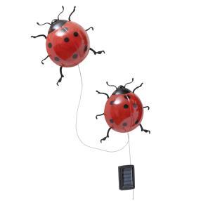 WENKO Solar-Marienkäfer mit LED