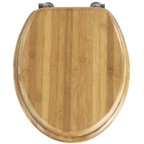 WENKO WC-Sitz Bambus Dunkel