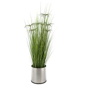 Kunstpflanze Zyperngras Grün