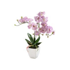 miaVILLA Kunstpflanze Orchidee Nachtfalter, Rosa