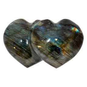 Labradorit Doppel Herz
