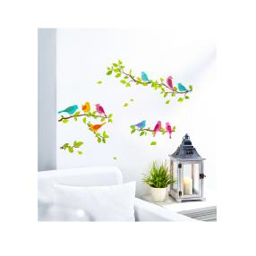 Wand Glitterdeko Vögel