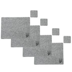 Filzplatzset 8-teilig Eule