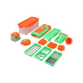 Genius Nicer Dicer Fusion orange-grün, 16-teilig