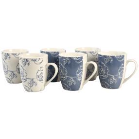 Kaffeebecherset 6-teilig Blue Flower