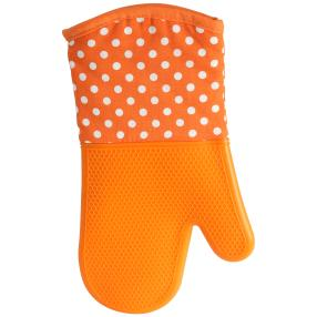 """Silikon Wounder"" Backhandschuh orange"