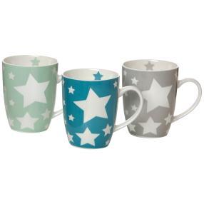 Kaffeebecherset 3-teilig Stars