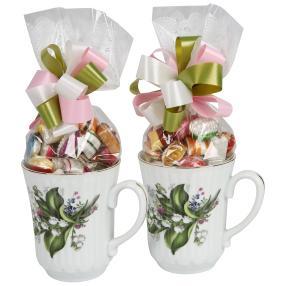 Porzellan-Tasse Maiglöckchen