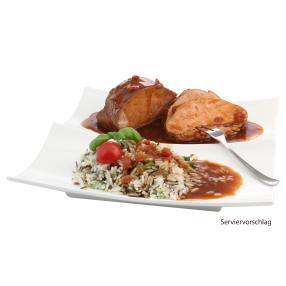 Steakbraten in BBQ Sauce