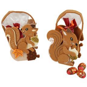 Gefüllte Eichhörnchen-Taschen