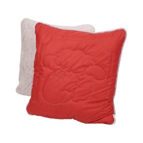 Stoffhanse Microschaf Kissen rosa/rot, Schaf/Raute