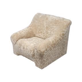 Elastische Sesselhusse 1-Sitzer, ecru gemustert