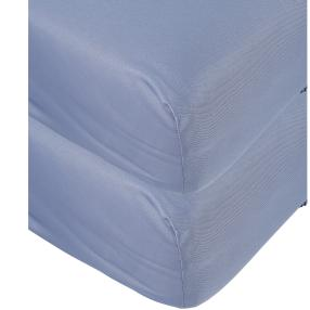 AllSeasons Spannbettlaken blau, 2x 100x200cm
