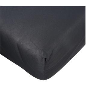 AllSeasons Spannbettlaken schwarz, 1x 140x200cm