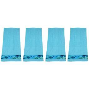 Premium Handtuch 4er Set, Fischebordüre