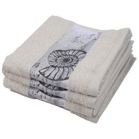 Premium Handtuch 4er Set, Muschelbordüre