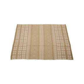 Teppich Oriental aus Baumwolle, 120 x 180 cm beige