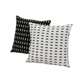 Wende-Dekokissen schwarz & weiß, 2-teilig