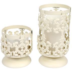 LED-Kerzenständer, 12 cm + 20 cm, 2-teilig