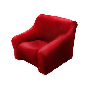 Elastische Sesselhusse bordeaux, 1-Sitzer
