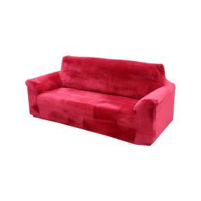 Elastische Sofahusse bordeaux, 3-Sitzer