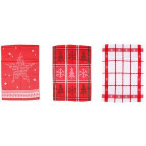 Geschirrtücher Weihnachten, 50 x 70 cm, 3-teilig