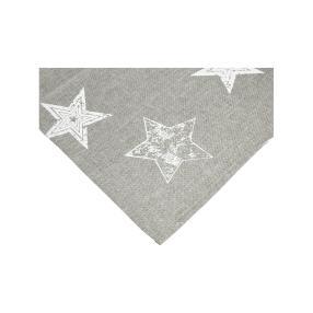 Mitteldecke Stars, grau, 85 x 85 cm
