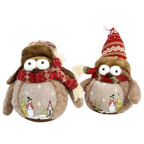 Weihnachtseule Textil 2er Set