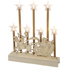LED Holzdeko mit Sternen