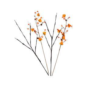 LED Zweige Herbstbeeren orange, 2-teilig