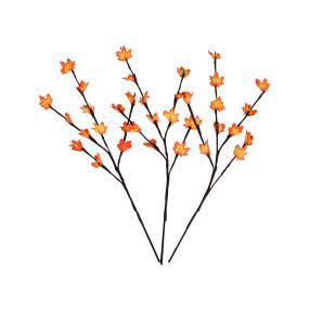 LED Zweige Herbstlaub 3-teilig