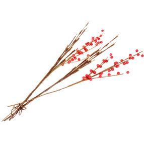 LED Zweige Rote Beere 2-teilig