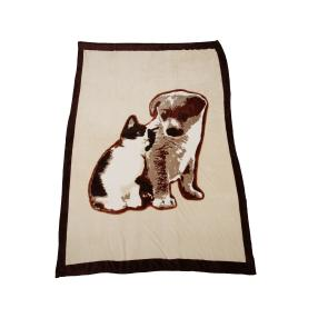 Kuscheldecke Katze & Hund, 140 x 200 cm