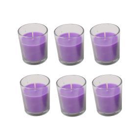 Duftkerzen Lavendel, 6er-Set