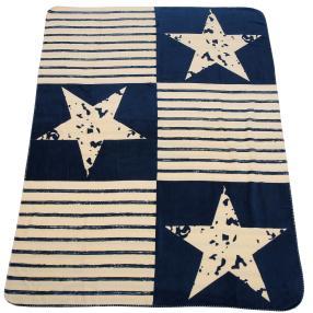 Kuscheldecke Sterne & Streifen, 150 x 200 cm