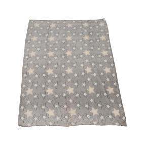 Kuscheldecke Sterne, grau/weiß, 150 x 200 cm