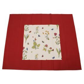 Tischdeckenset Schmetterling Rot & Bunte Bedruckt