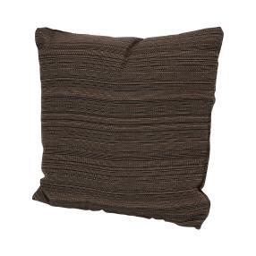 Dekokissen braun/gestreift, 40 x 40 cm