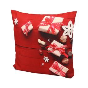 Dekokissen Weihnachten, Rot Bedruckt, 40 x 40 cm