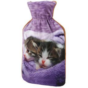 Wärmflasche Kätzchen lila, 1 Liter Füllmenge